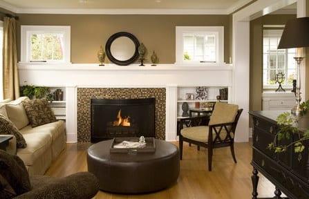 Wohnzimmer mit schwarzen m beln die neuesten innenarchitekturideen - Wohnzimmerwand grun ...