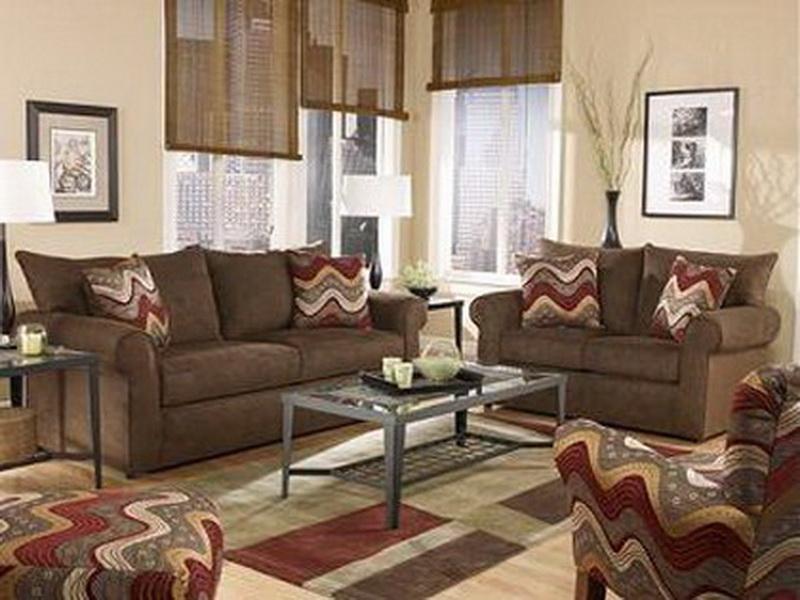 wohnzimmer rot braun:Wohnzimmer Braun – Wohnzimmer Inspirationen der braunen Farbpalette