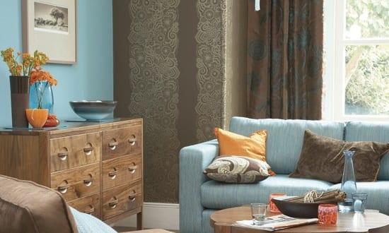 wohnzimmer blau braun ~ inspiration layout in ihrem zuhause - Wohnzimmer Braun Blau