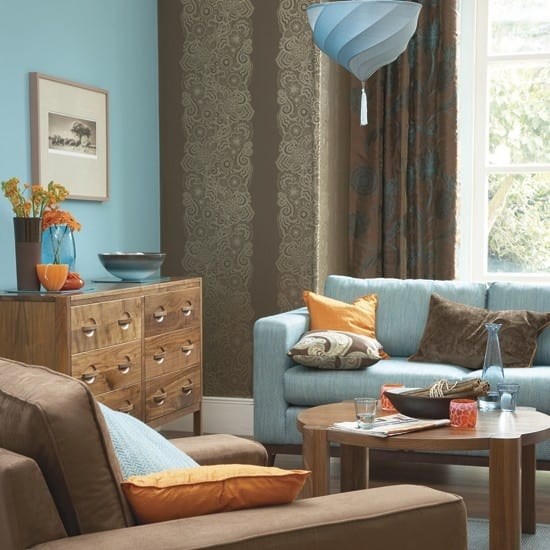 brown and blue living room color schemes wohnzimmer braun wohnzimmer inspirationen der braunen 27671