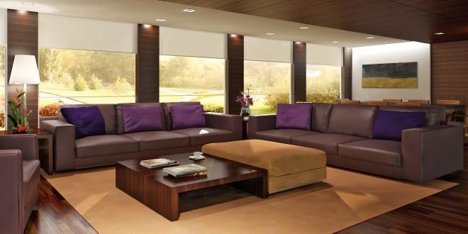 wohnzimmer braun und lila freshouse