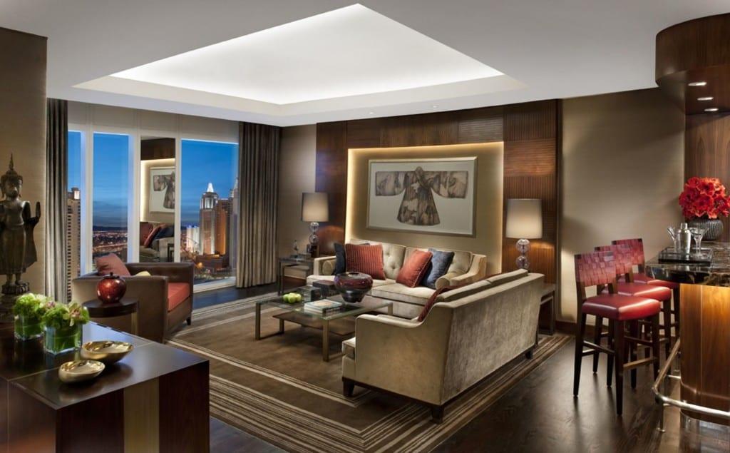 deckengestaltung - wandbeleuchtung idee-modernes wohnzimmer interior