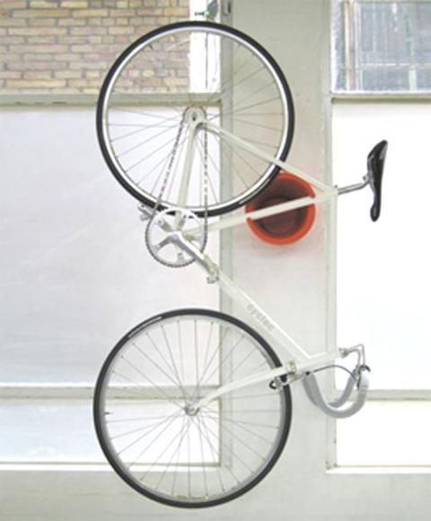 runde Fahrrad wandhalterung rot