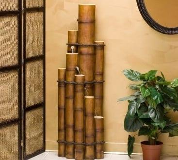 wohnzimmer gestalten-bambus deko - fresHouse