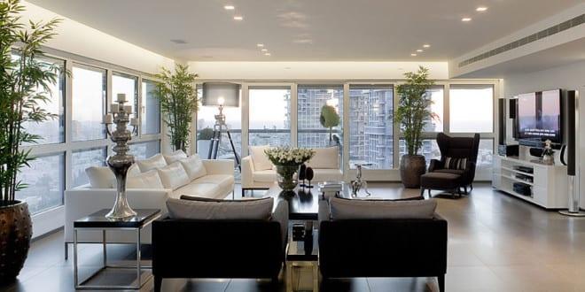wohnzimmer gestalten mit bambuspflanzen - fresHouse