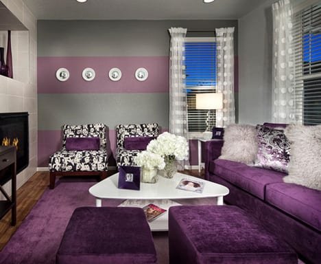 black and purple living room decor wohnzimmer lila coole einrichtungsideen im lila freshouse 25176