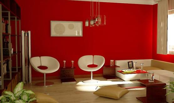 bezaubern dekoideen wohnzimmer rot Verzierung