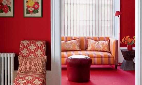 wohnzimmer rot-wand streichen idee - fresHouse