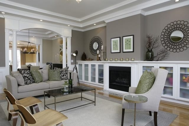 wandfarbe grau - schöne wandfarben - freshouse - Moderne Wohnzimmer Wandfarben