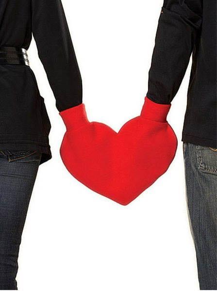 kreative geschenke valentinstag-handschuh herz für zwei