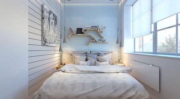 2 raumwohnung kleines schlafzimmer inspiration mit indirekter deckenbeleuchtung freshouse - Deko kleines schlafzimmer ...