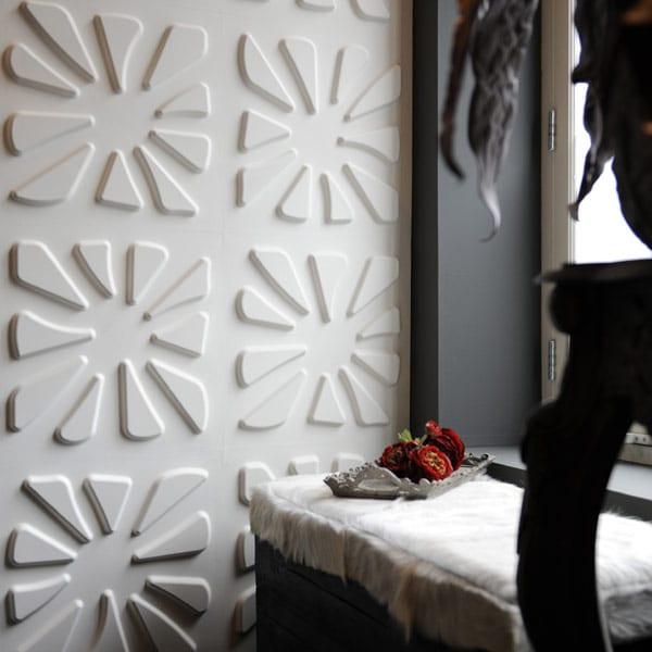 wandfarbe grau und weiße dekorative wandpaneele- coole eohnideen
