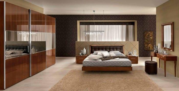 wohnideen schlafzimmer mit designer möbelstücken-beige wandfarbe-schlafzimmer farbe