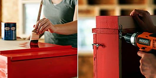 idee für balkonmöbel selber bauen mit DIY wandregal mit