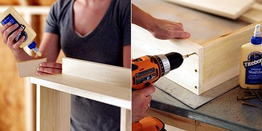riter wandregal mit klapptisch selber bauen fürs balkon gestalten