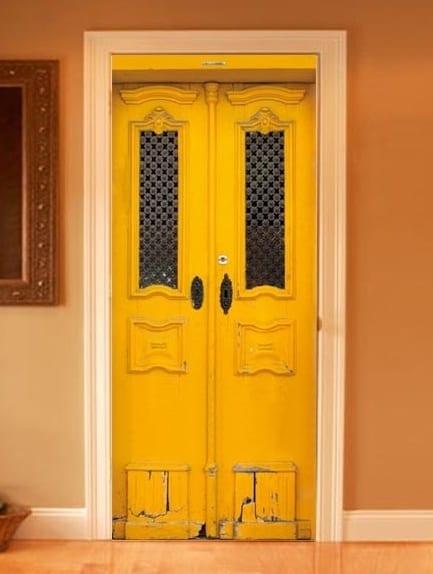 innentüren mit realistischen fototapeten gestalten