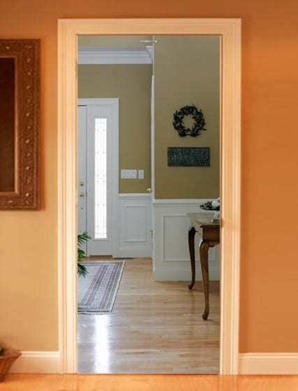 innentüren dekoration mit realistischen fototapeten für optische täuschung