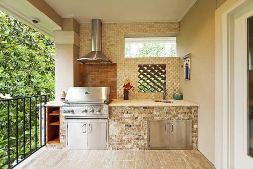 balkon gestaltung mit Küche