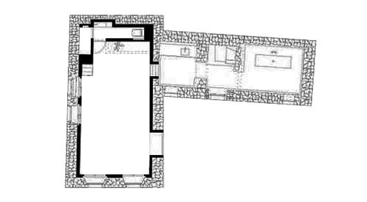 Sommerhaus Aus Mauerwerk Mit Betonbau Im Innenraum