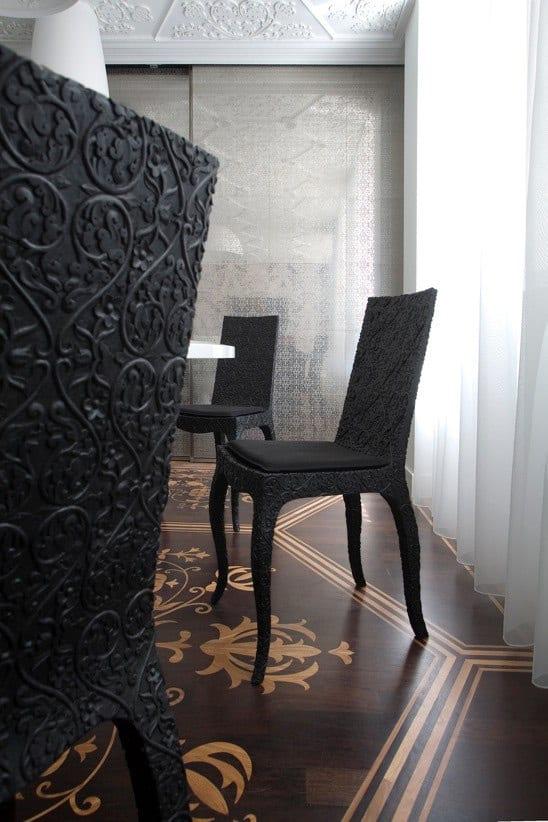 extrem schicke barock stühle schwarz- zimmergestaltung inspirationen