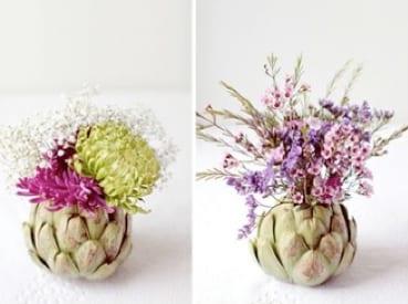 diy vase aus artischocken- fantastische tischdeko idee
