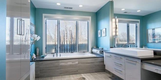 die besten 20+ blau grau badezimmer ideen auf pinterest. download, Badezimmer dekoo