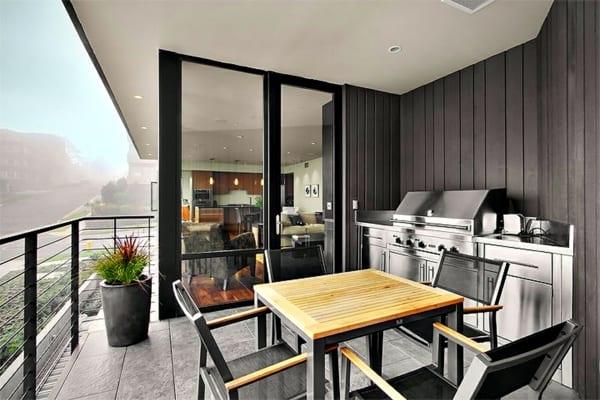 terrassen gestalten mit küche und BBQ