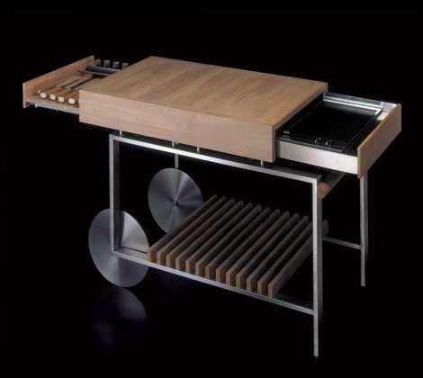 balkon ideen zum grillen mit mobilem BBQ