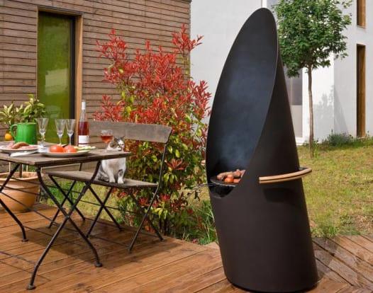 terrassengestaltung ideen mit BBQ