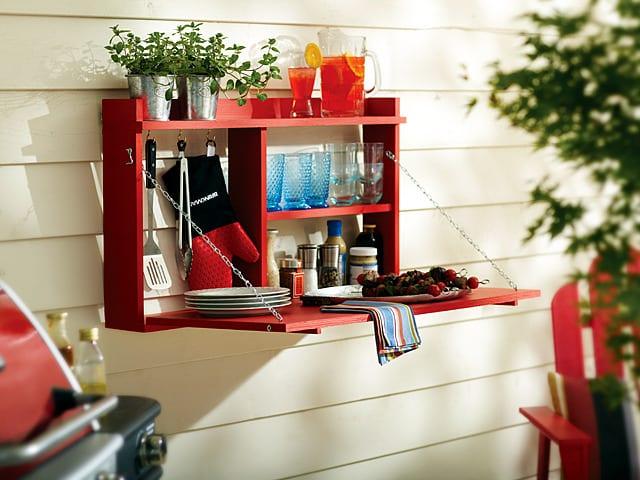 balkongestaltung mit DIY balkonmöbel