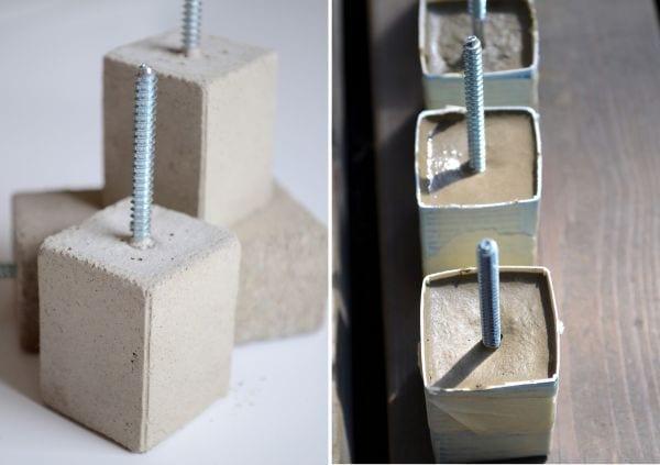 diy griffe aus beton-coole bastelideen