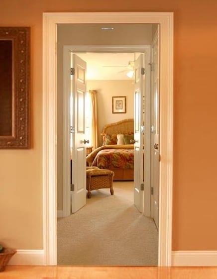dekoideen für innentüren mit fototapete