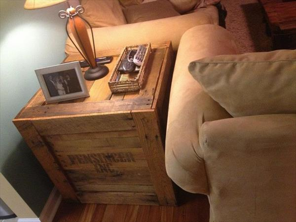 diy beistelltisch aus paletten fürs wohnzimmer