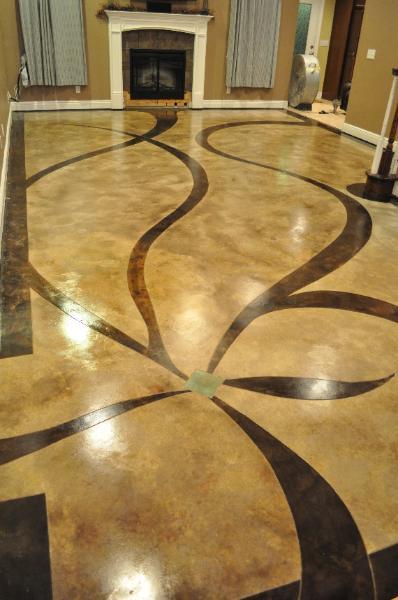 wohnzimmerinspirationen mit fußboden aus beton braun