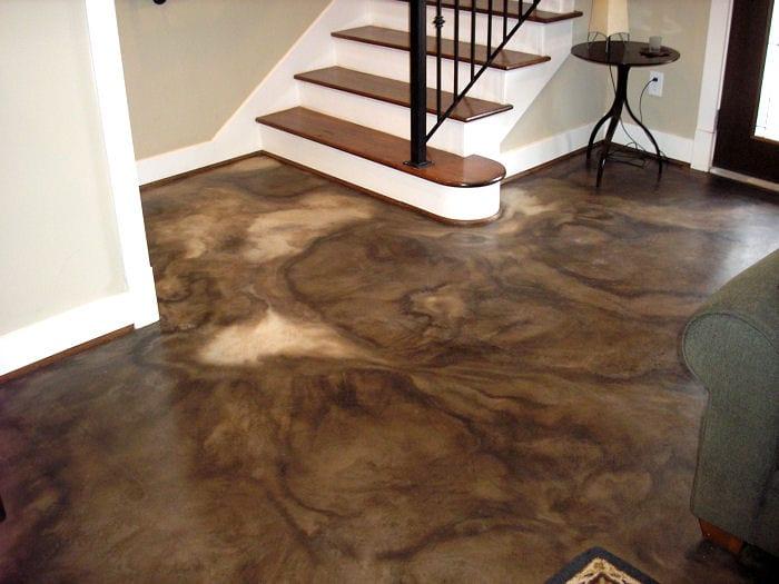 betonboden braun aus beton