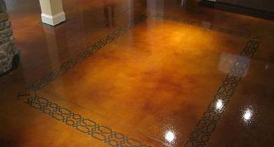 beton braum im innenraum als fußbodenbelag