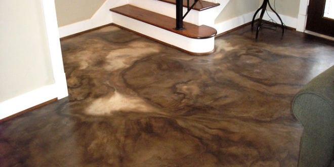 beton braun fu bodenbelag braun aus beton freshouse. Black Bedroom Furniture Sets. Home Design Ideas