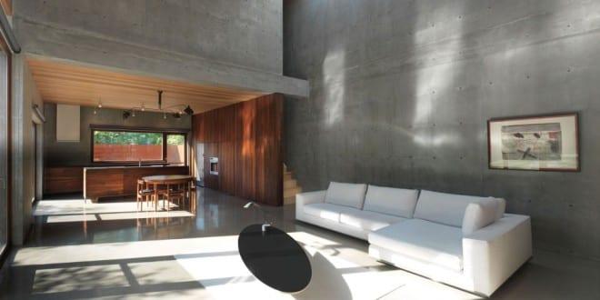Betonbau luxus wohn esszimmer aus beton freshouse for Esszimmer luxus
