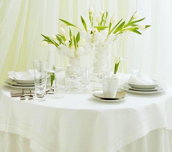 frohe ostern bilder für schöne tischdeko in weiß