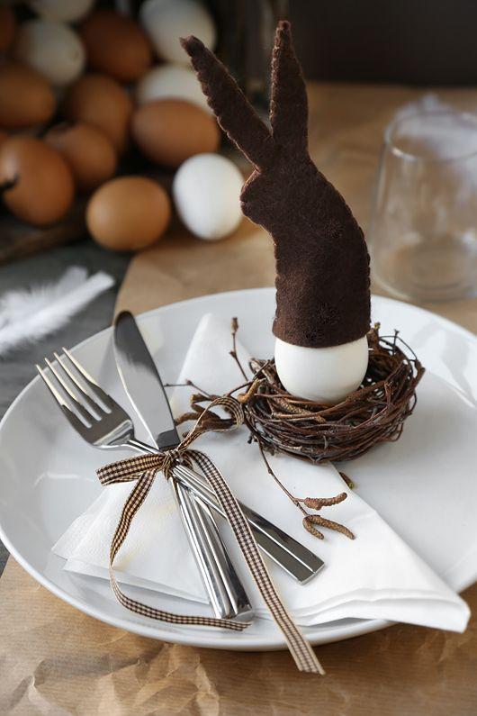 bastelideen ostern für ostern tischdeko