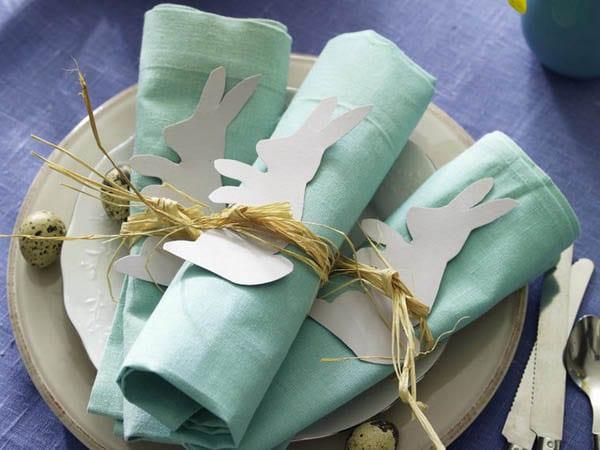 servietten falten zu ostern 2015