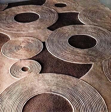 der moderne teppich mit kreisen