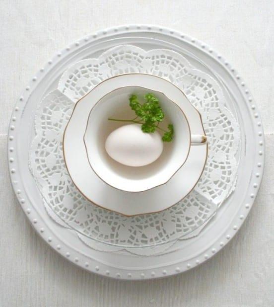 spektakuläre ostern bilder für tischdeko in weiß