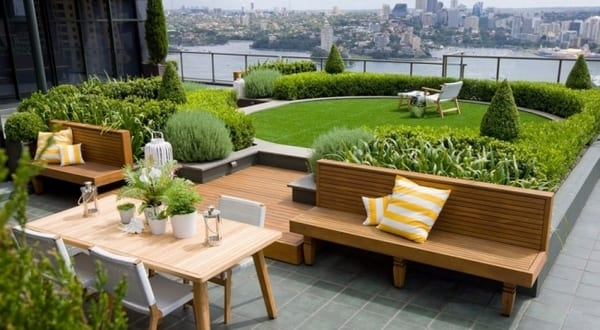dachterrasse-garten terrasse - freshouse, Hause und garten