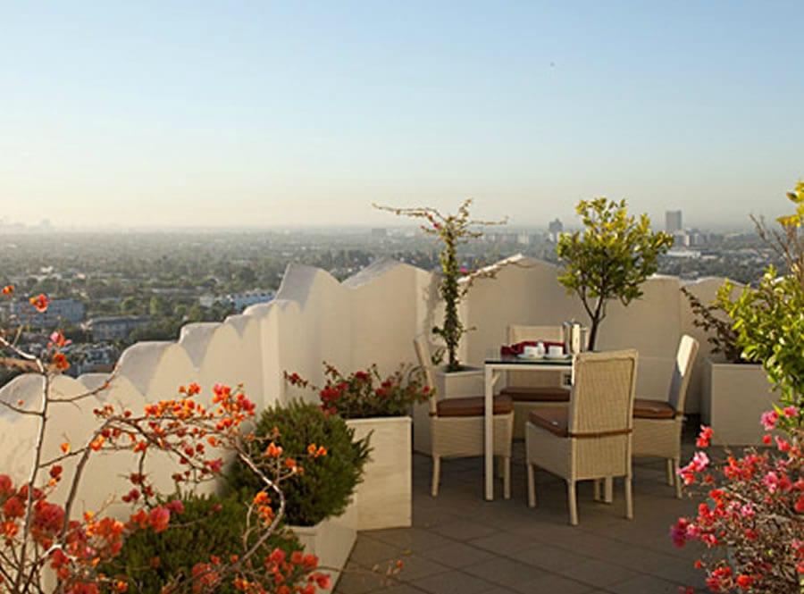 terrasse mit terrassenbepflanzung