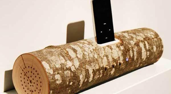 diy lautsprecherbox f r ipod aus rundholz basteln mit naturmaterialien freshouse. Black Bedroom Furniture Sets. Home Design Ideas