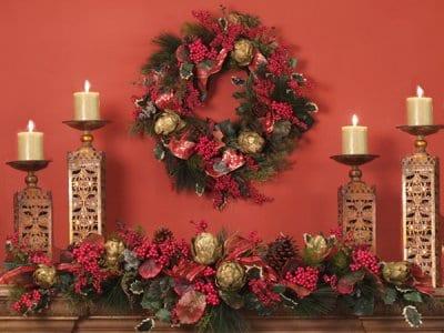 deko selber machen fürs weihnachten-sideboard dekorieren