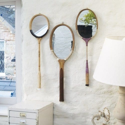 coole wohnzimmer deko:Tennis Rackets with Mirrors
