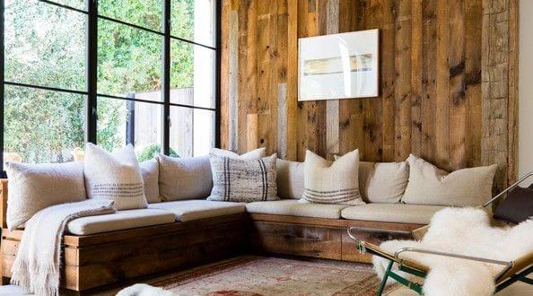 einrichtungsideen für mein wohnzimmer aus holz mit sitzecke