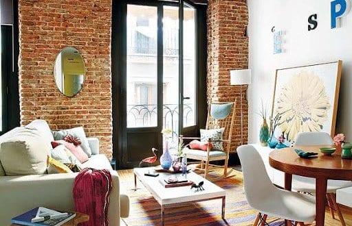 einrichtungsideen wohnzimmer f r sch ne wohnzimmer mit ziegelmauer freshouse. Black Bedroom Furniture Sets. Home Design Ideas